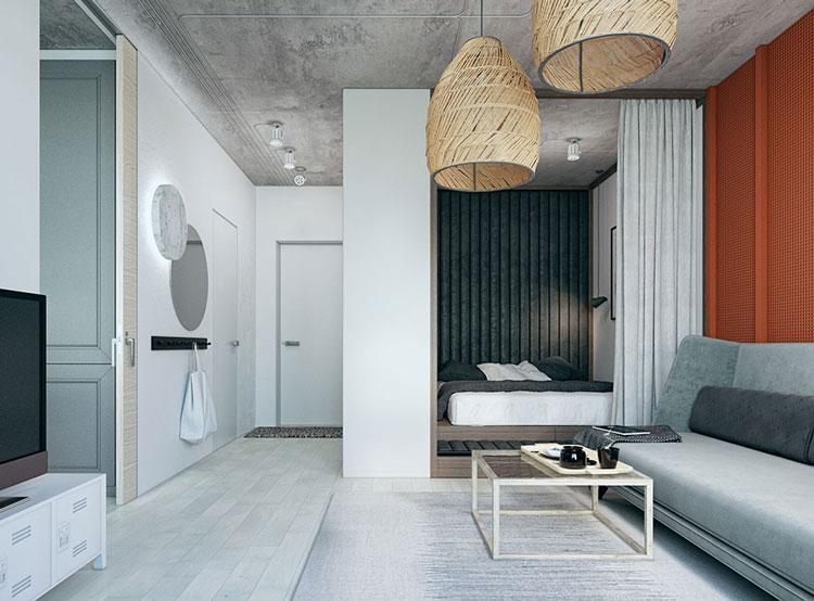 thiết kế nội thất căn hộ chung cư mini 25m2 1