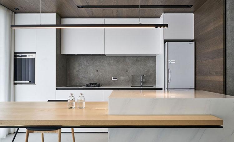 Thiết kế nội thất chung cư Him Lam đối với phòng bếp