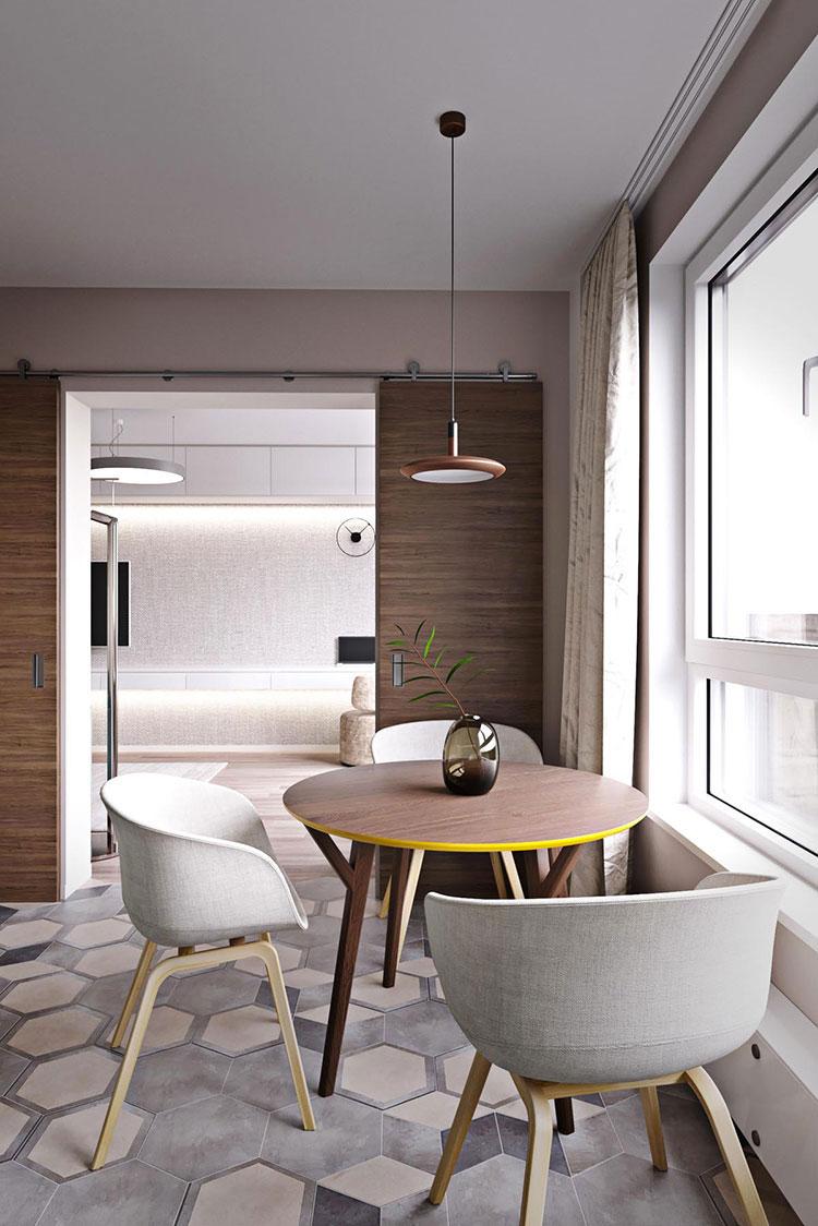 bàn ăn - thiết kế nội thất chung cư Kim Văn Kim Lũ