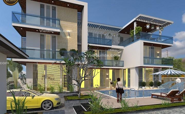 mẫu thiết kế biệt thự hiện đại đẹp BT1419
