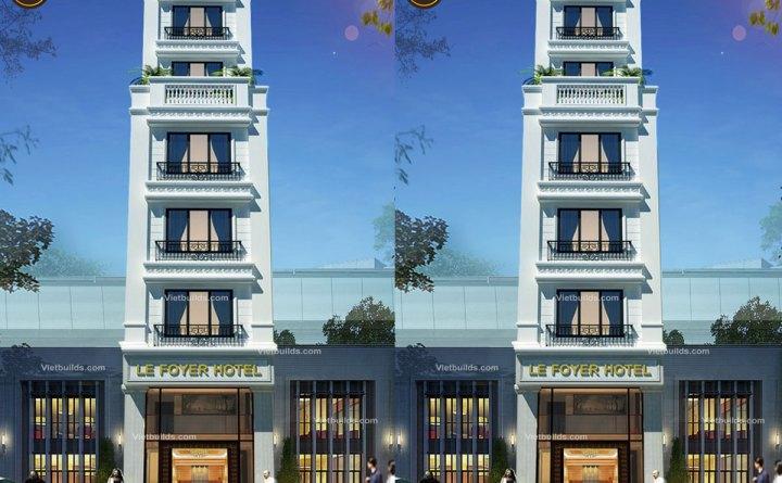 Thiết kế khách sạn mini đẹp 7 tầng BT16051