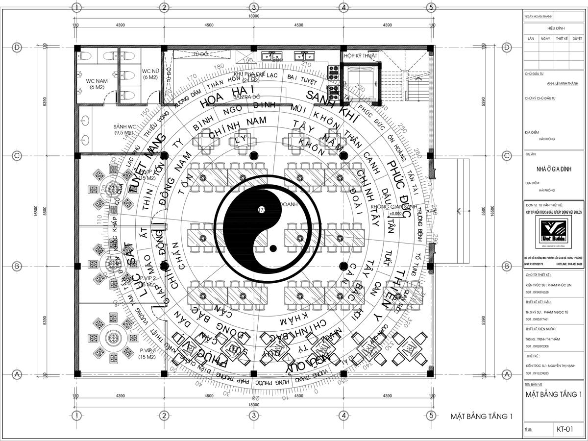 Mẫu thiết kế nhà hàng đẹp ở Quảng Ninh BT16052