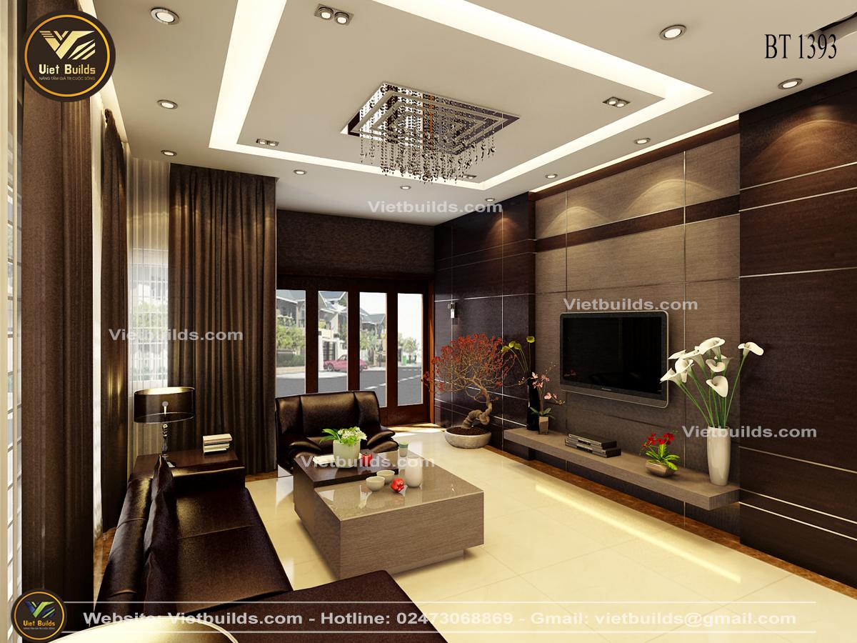 Mẫu thiết kế nội thất nhà phố đẹp hiện đại NT1393