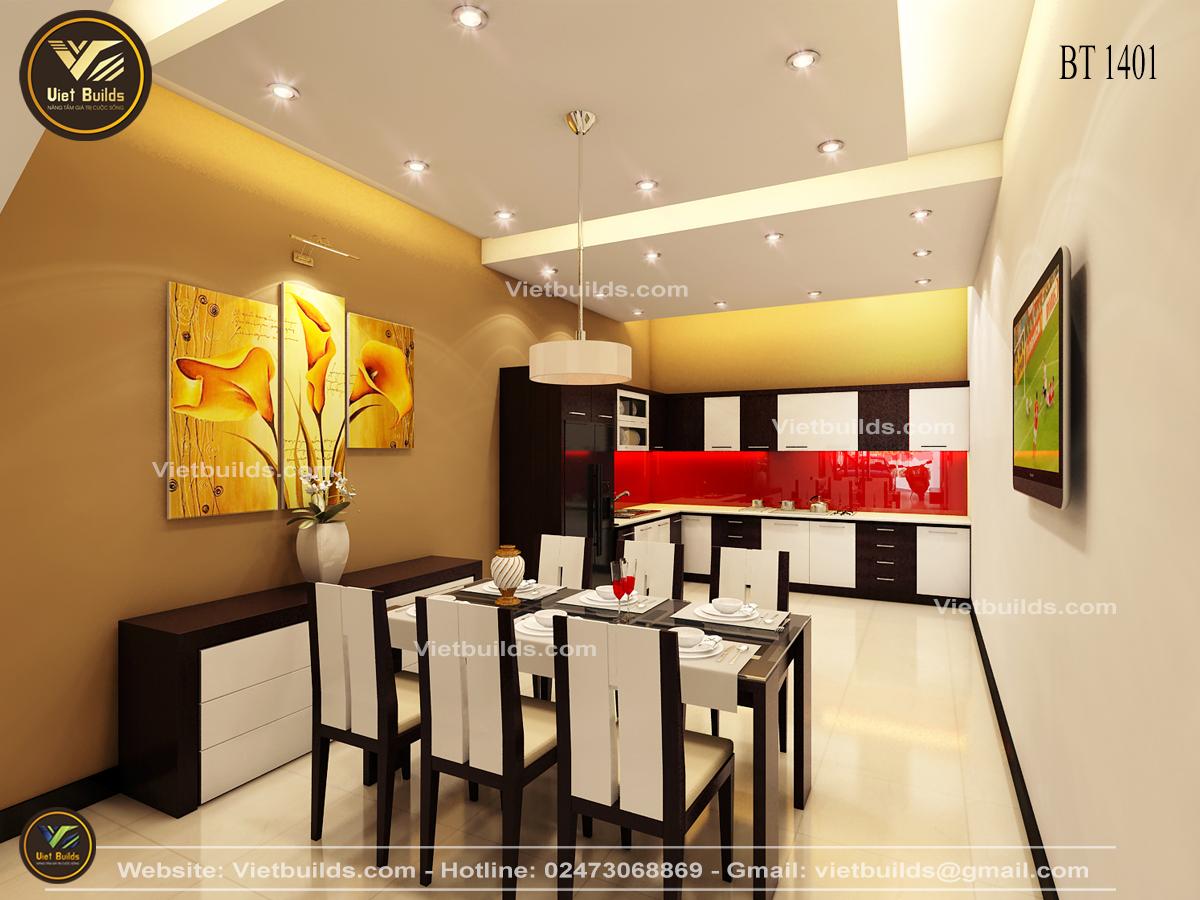 Mẫu thiết kế nội thất nhà phố Hiện Đại đẹp tại Hà Nội NT1401