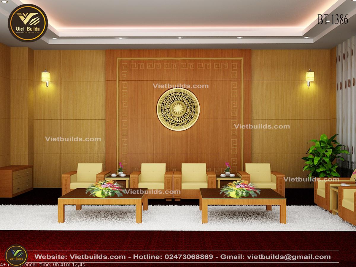 Mẫu thiết kế nội thất phòng họp đẹp trường đại học NT1386