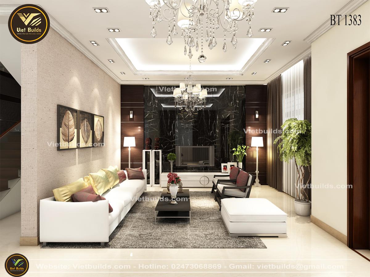 Mẫu thiết kế nội thất PHÒNG KHÁCH tân cổ điển đẹp đẳng cấp NT1383