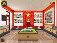 Mẫu thiết kế phòng truyền thống đẹp của trường Trung Học Cơ Sở NT1430
