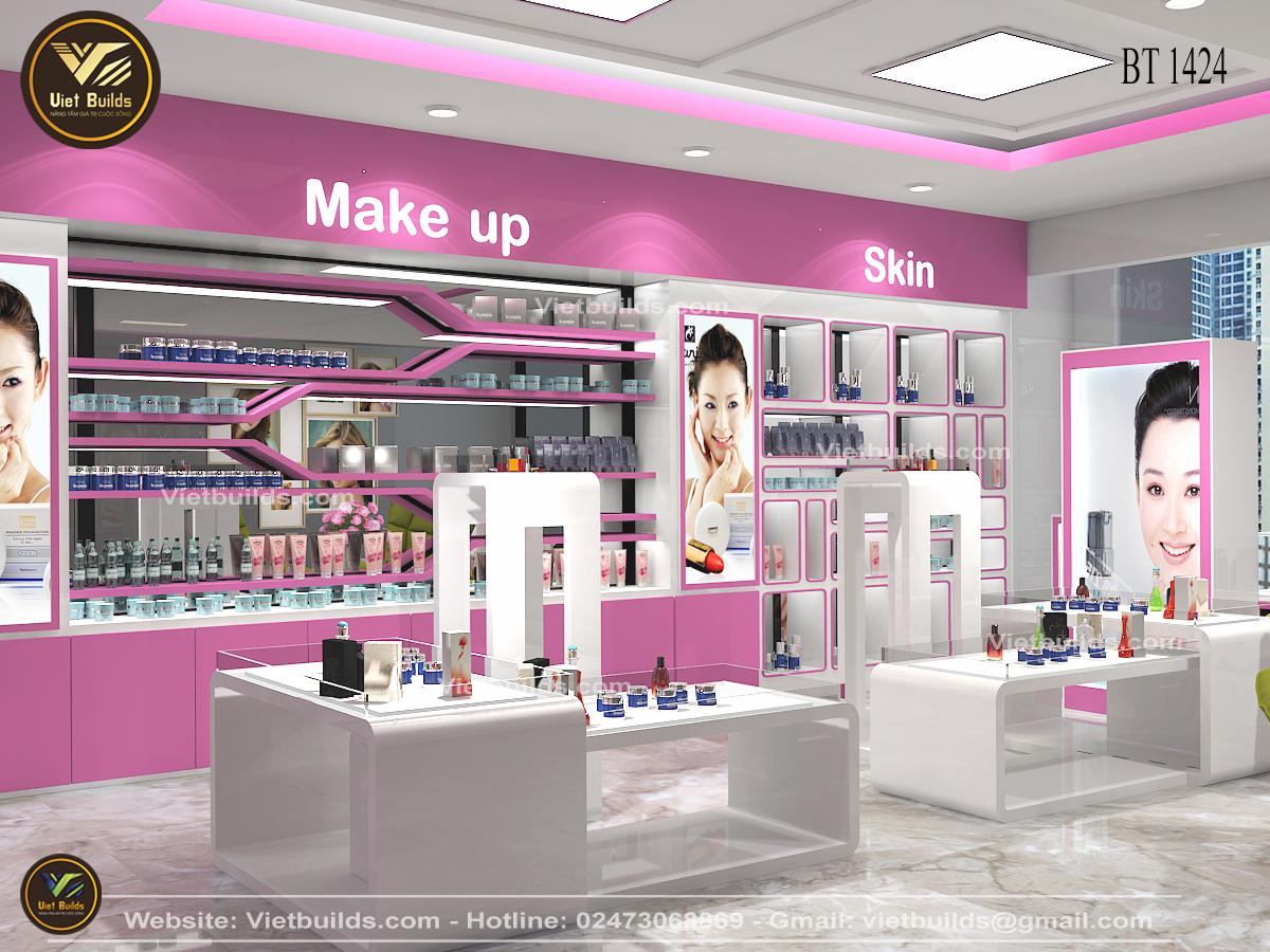 Mẫu thiết kế shop Mỹ Phẩm đẹp Lung Linh NT1424