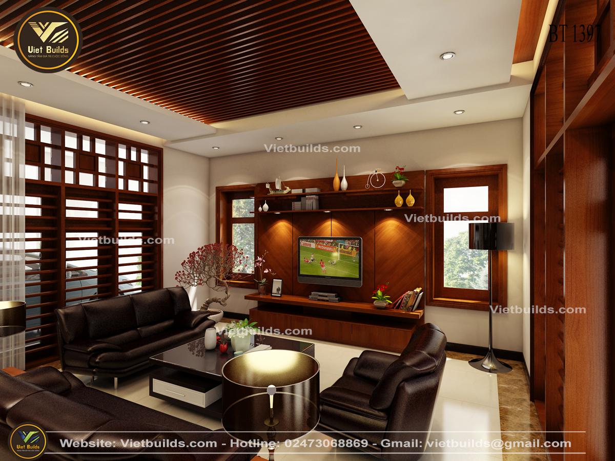 Mẫu tư vấn thiết kế nội thất đồ gỗ đẹp cho biệt thự NT1397