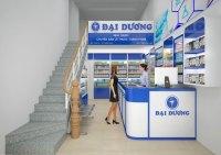 thiết kế nội thất cửa hàng dược