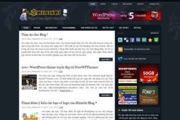 Giao diện mới của Shinichi 's Blog