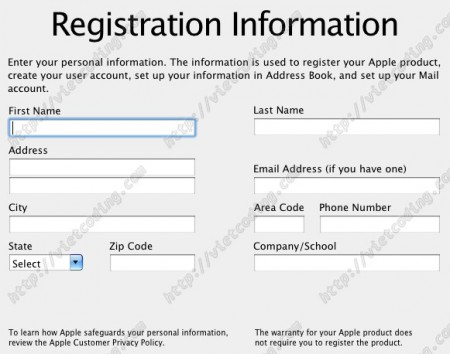 MAC-OSX-23: Registration