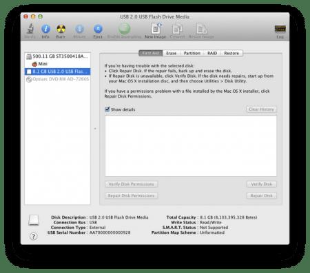 Phân vùng USB trên Mac