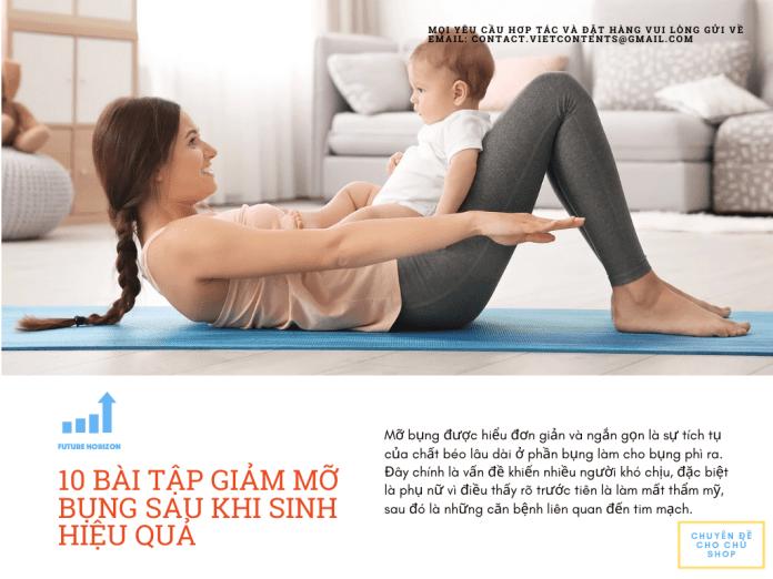10 bai tap giam mo bung sau sinh ve dang nhanh bang yoga va gym 1 - 10 bài tập giảm mỡ bụng sau sinh về dáng nhanh bằng YOGA và GYM