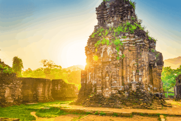 """A group of ancient Hindu temples in My Son have earned it the nickname """"mini Angkor Wat""""."""