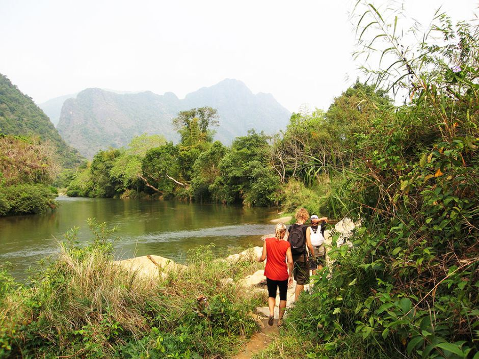 FULL DAY TREKKING AND CAVING TOUR IN VANG VIENG