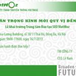 Thư mời tham dự Lễ khai trương trung tâm đào tạo SEO VietMoz