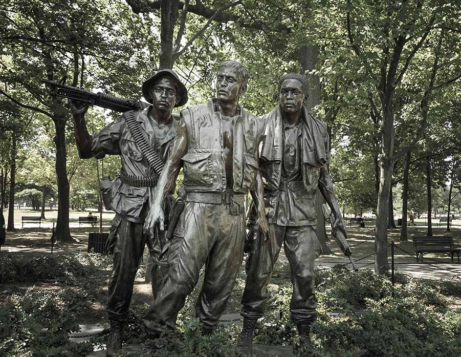 A statue in memory of the vietnam war