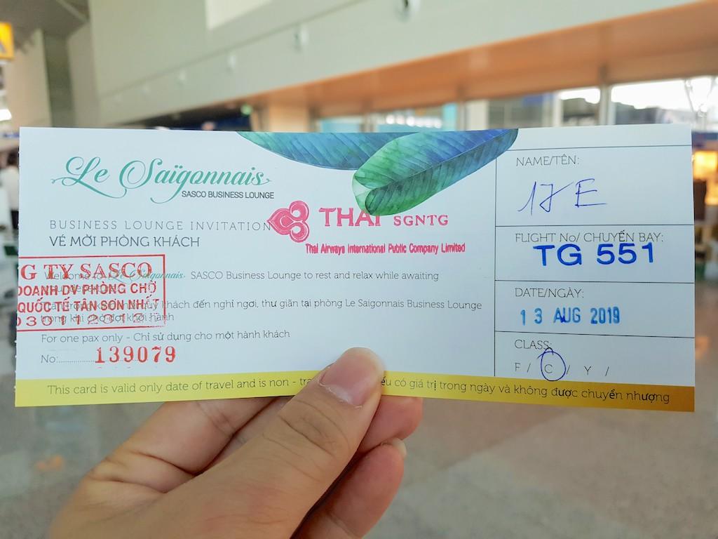 ラウンジの招待券_タイ航空のビジネスクラス搭乗