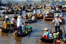 Cai Rang Floating Village - CAI RANG FLOATING MARKET