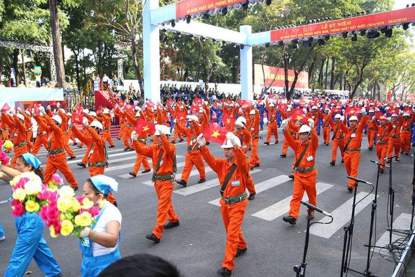 Парад рабочих в День Труда