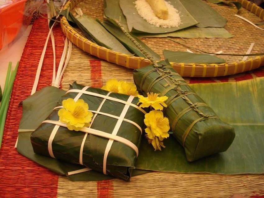 Вьетнамский новогодний рисовый пирог