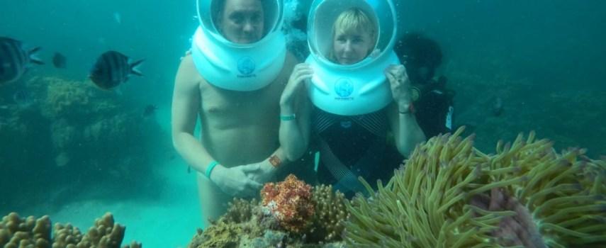 Подводная морская прогулка