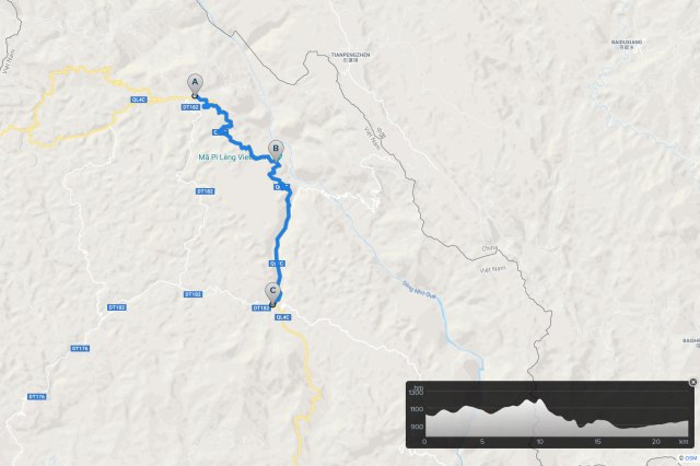 ha giang cycling route: dong van to meo vac