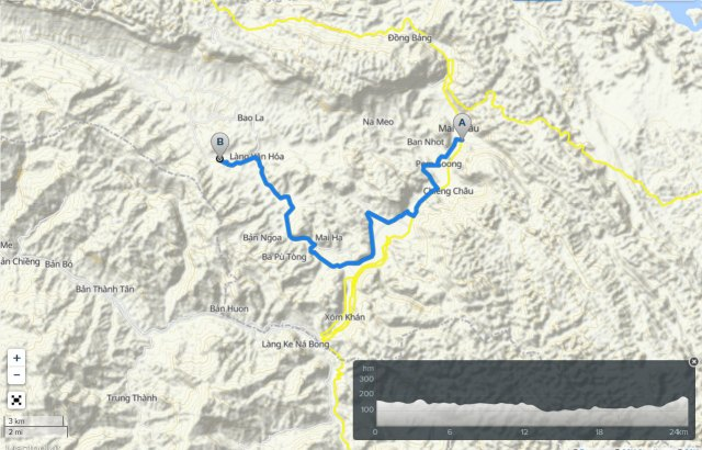 Mai Chau valley bicycle route