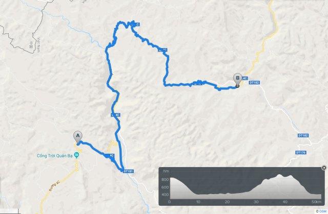 cycling map quan ba yen minh