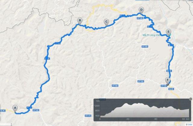 ha giang cycling route: yen minh dong van meo vac