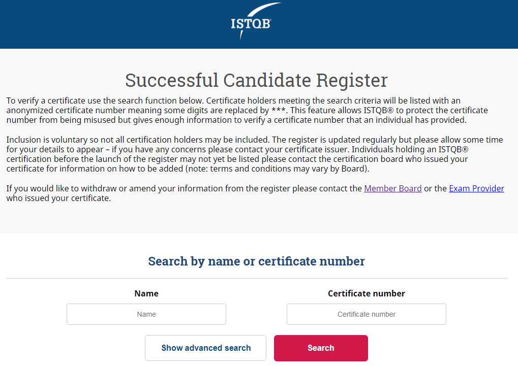 Certified Tester List   ISTQB-VTB