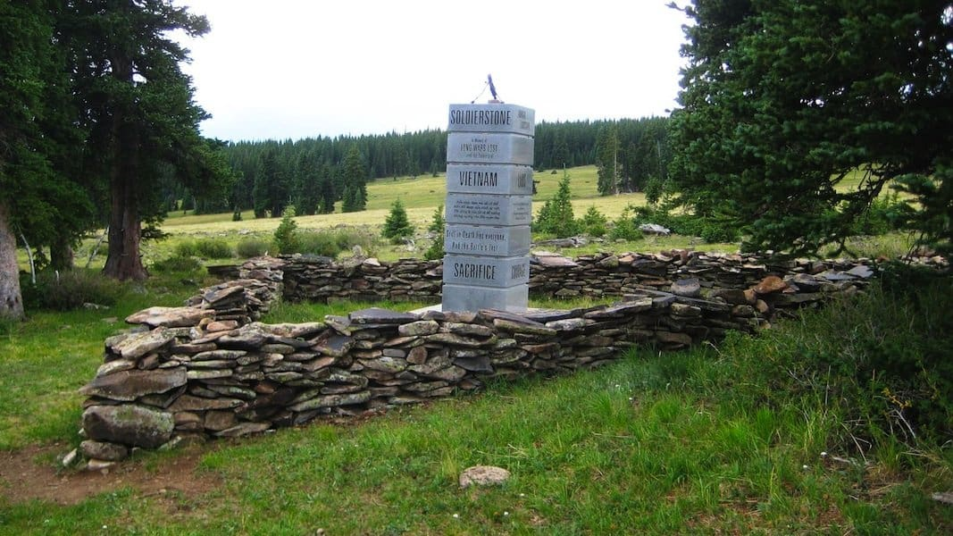 Sargent's Pass Colorado Vietnam War Memorial (Soldierstone)