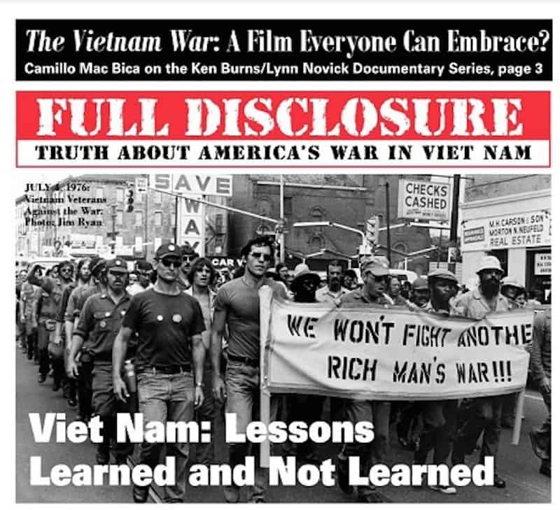 VETERANS GROUP REACTS TO FIRST EPISODE OF BURNS/NOVICK VIETNAM SERIES