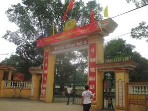 Cổng trại K3 – trại giam Phú Sơn 4
