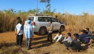 Liên Hiệp Quốc đang đàm phán đưa nhóm 13 người Thượng về thủ đô Phnom Penh để nộp hồ sơ xin tỵ nạn ngày 20/12/2014. (Photo Quốc Việt, RFA)