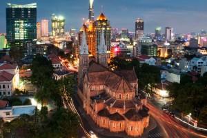 Saigon motorbike city tour by night