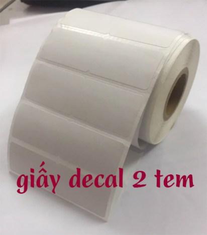 giấy decal 2 tem