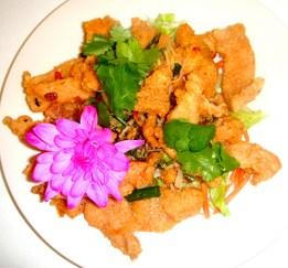Chicken ginger chilli