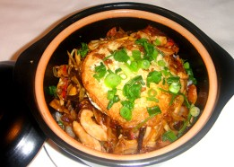 Combination rice hot pot