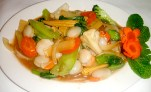 Scallop vegetable