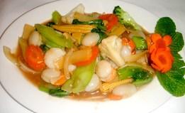 Scallop vegetable