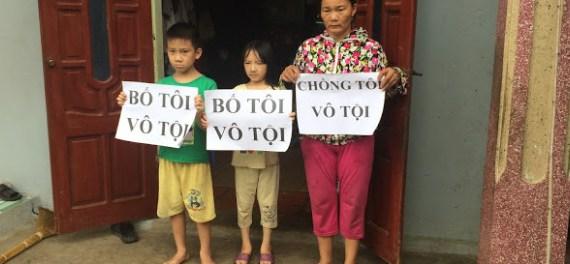 nguyen-thi-lanh-and-kids - Vietnam Free Expression Newsletter No. 37-2017 – Week of November 6-12