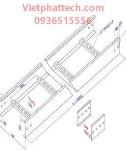 Sản xuất Thang cáp 200x100 sơn tĩnh điện giá rẻ toàn quốc 4