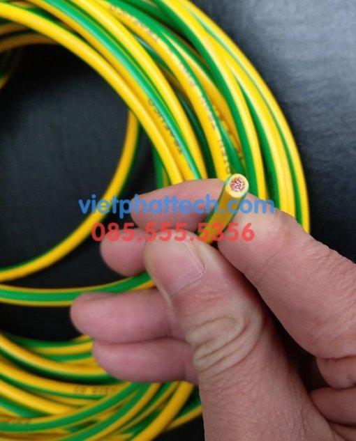 Tiếp địa vàng xanh M6 loại dây mềm
