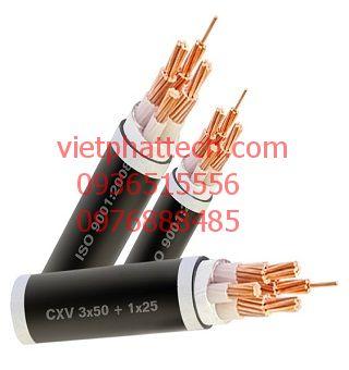 Cáp đồng 4 lõi 1 lõi trung tính bọc cách điện PVC CADI-SUN 2