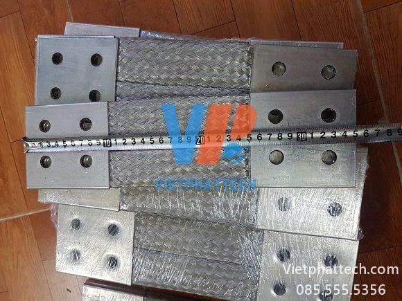 Thanh nối đồng bện 350x100x10mm cho máy bến áp 33
