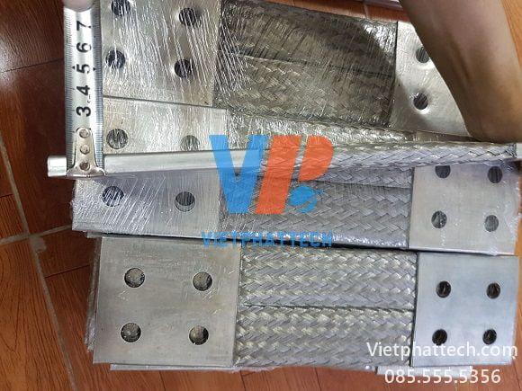 Thanh nối đồng bện 350x100x10mm cho máy bến áp 35