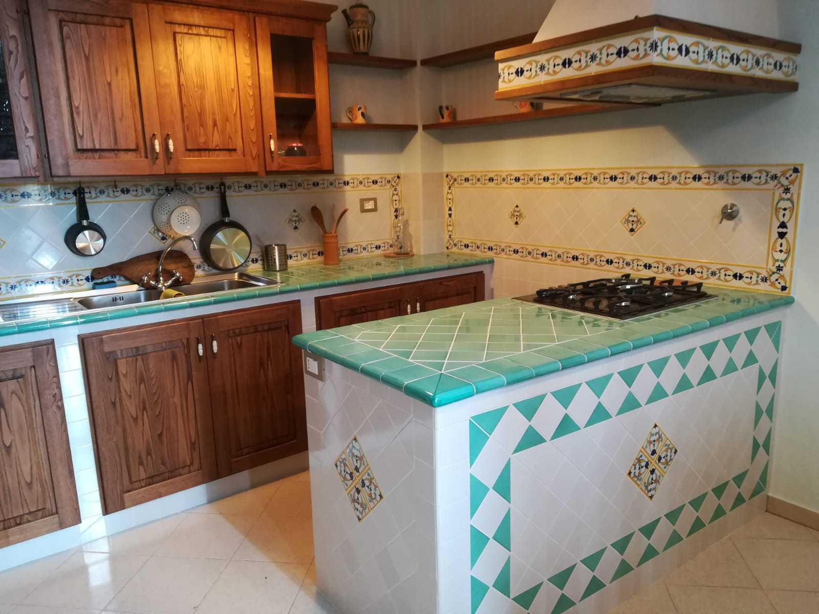 Piano Cucina In Muratura   Piastrelle Piano Cottura Adesivo Per ...