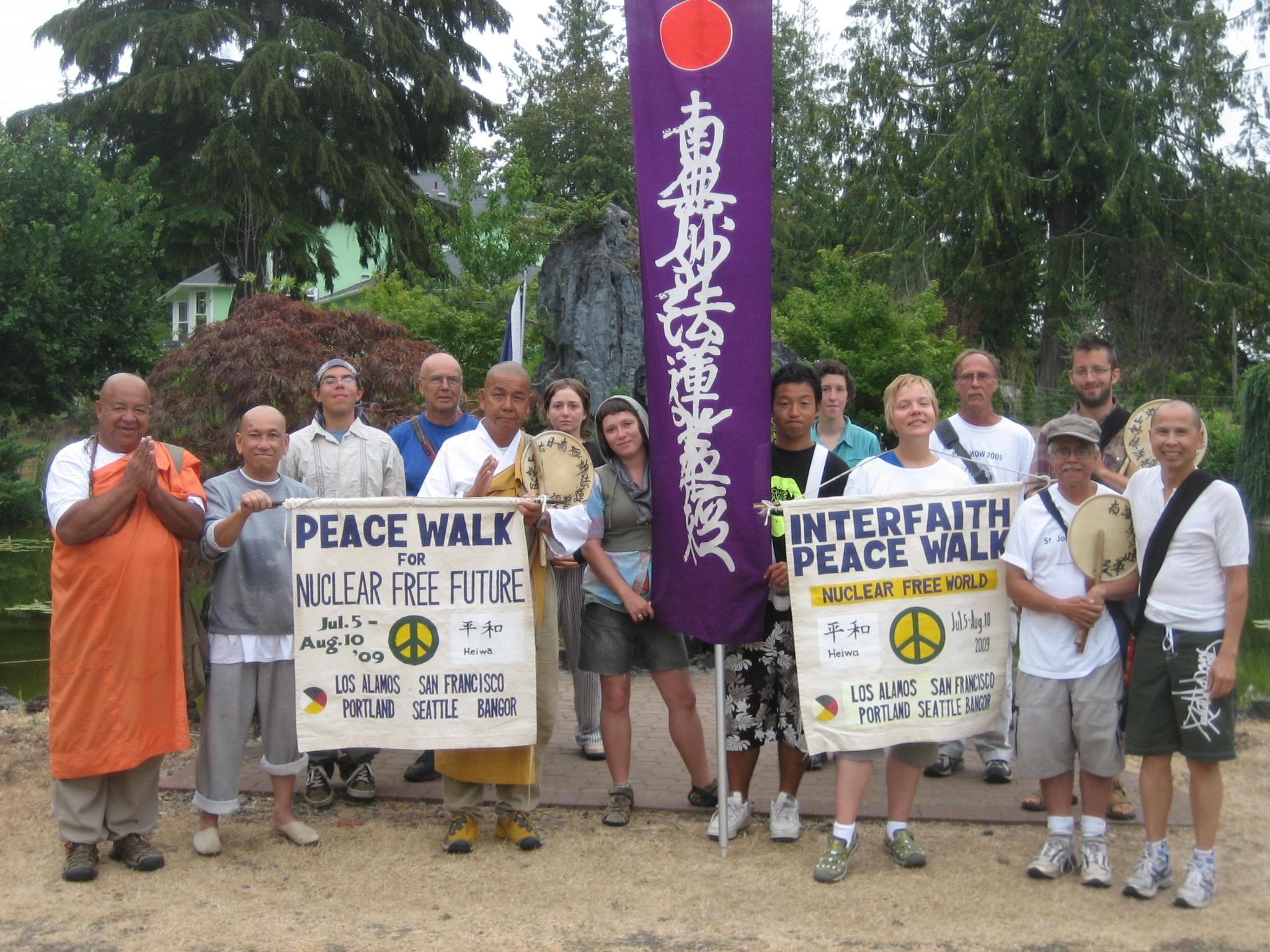 PeaceWalker at Thiền Viện Nhẫn Hòa, Olympia, WA
